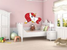 FULL COLOUR Unicorn Wall Art,  Modern Transfer, 3D Sticker, PVC Decal Fantasy